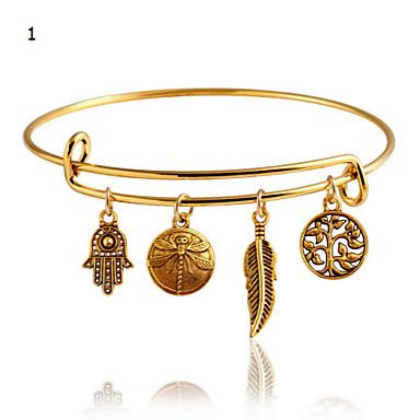 Mulheres Bracelete Vintage Casual Fashion Liga Jóias Diário Jóias de fantasia 1 2 3 4