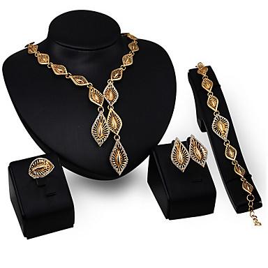 שרשרת / עגיל / צמיד / טבעת - נשים - וינטאג' / מסיבה (מצופה זהב / זירקוניה קיוביק)