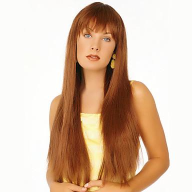 شعرة الإنسان كابليس الباروكات شعر مستعار طبيعي مستقيم دون غطاء شعر مستعار