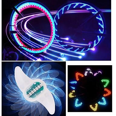 luzes da roda LED - Ciclismo Cores Variáveis CR2032 90lm Lumens Bateria Ciclismo / Condução / Motocicleta