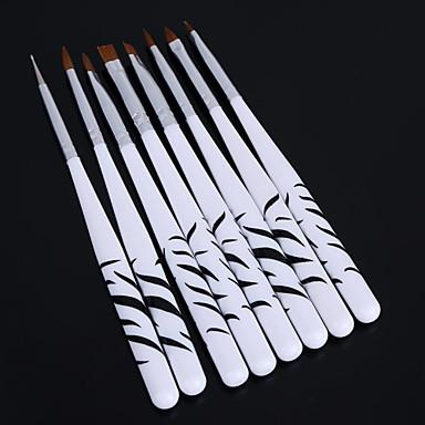 8db zebra köröm pontozás manikűr festmény rajz lengyel ecsettel toll eszközök