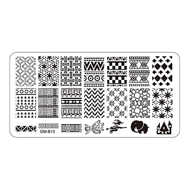 5 Stamping Plate Other Decorations Flower Fashion High Quality Daily