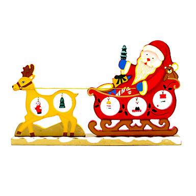 madeira desenhos animados do natal veados puxar carroças enfeites de mesa ornamentos decorativos fornece brinquedos novidade engraçado