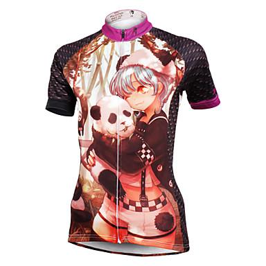 ILPALADINO Bisiklet Forması Kadın's Kısa Kol Bisiklet Forma ÜstlerHızlı Kuruma Ultravioleye Karşı Dayanıklı Nefes Alabilir Hafif