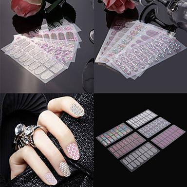 3D Nail Stickers / Nail Jewelry - PVC - Punk - Sormi - 145*75mm - 4pcs