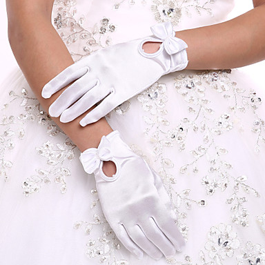 Spandex Wrist Length Glove Bridal Gloves Party/ Evening Gloves With Bow