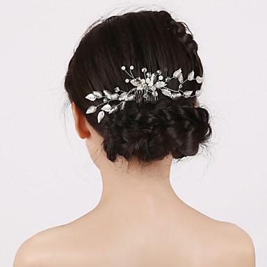 Imitation Pearl Hair Combs Headpiece Classical Feminine Style