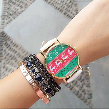 Mulheres Relógio de Moda Quartzo PU Banda Branco Preto Vermelho Verde