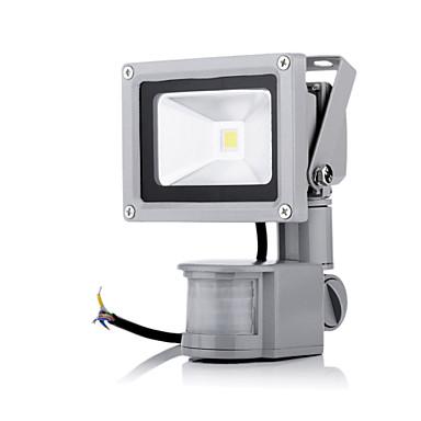 abordables Éclairage Extérieur-1pc 10 W 2800-6500 lm 1 Perles LED LED Haute Puissance A détecteur Blanc Chaud / Blanc Froid 85-265 V