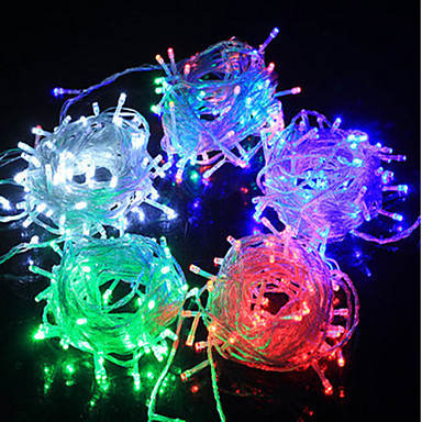 6m Lysslynger 100 LED Dip Led Varm hvit / Hvit / Rød Fest / Dekorativ / Koblingsbar 100-240 V 1pc / IP44