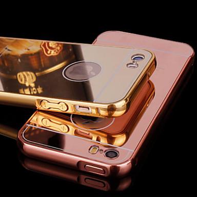 iphone 5 / 5s metal çerçeve ve ayna kaplama arka yüz cep telefonu kılıfı (çeşitli renklerde)