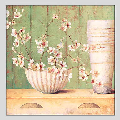 Handgemalte Blumenmuster/BotanischModern / Europäischer Stil Ein Panel Leinwand Hang-Ölgemälde For Haus Dekoration
