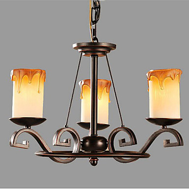 IKEA Study The living Room Antique Candle lamp Iron Chandelier
