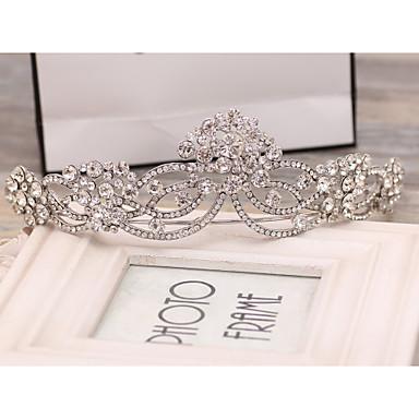 kristal yapay elmas alaşım tiaras baş parçası klasik kadınsı stil