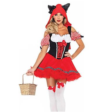 Peri Masalı/Bajka Kırmızı Başlıklı Kız Cosplay Kostümleri Parti Kostümleri Kadın's Yılbaşı Cadılar Bayramı Çocukların Günü Festival /