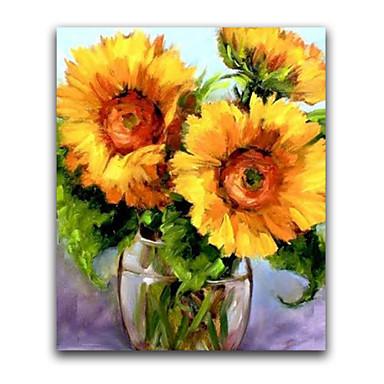 Hang-Boyalı Yağlıboya Resim El-Boyalı - Çiçek / Botanik Realizm Tuval