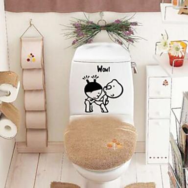 Stickers Toilet / Bathtub / Shower / Medicine Cabinets Plastic Multi-function / Eco-Friendly / Cartoon / Gift