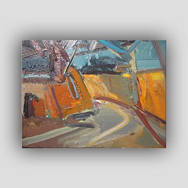 Hang-Painted öljymaalaus Maalattu - Abstrakti Moderni Realismi Kangas