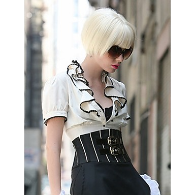 Blonde Color Wig Women Lady Bob  Syntheic Wig Extensions New Stylish