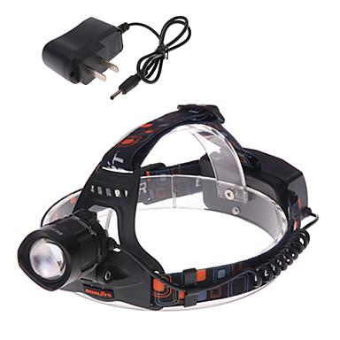 1 Kafa Lambaları Bisiklet Işıkları Far LED 1200 lm 3 Kip Cree XM-L T6 Şarj Aleti ile Zoomable Ayarlanabilir Fokus Şarj Edilebilir Su