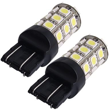 2 * autó 7443 7440 t20 hátsó fék izzó lámpa 5050smd fehér 27 led 12v 2,5 W 250lm