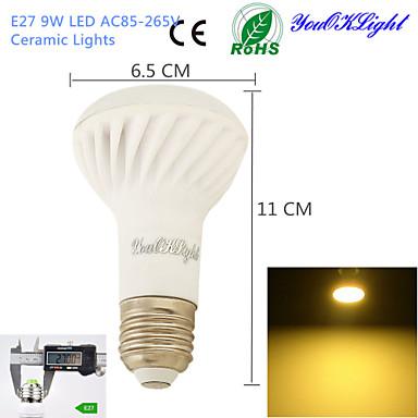 9W E26/E27 LED szpotlámpák A50 18 SMD 5730 800 lm Meleg fehér Dekoratív AC 85-265 V 1 db.