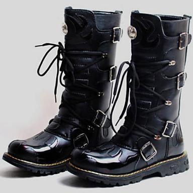 Férfi Fashion Boots Szintetikus Ősz / Tél Motoros csizmák Csizmák Magas szárú csizmák Fekete / Party és Estélyi