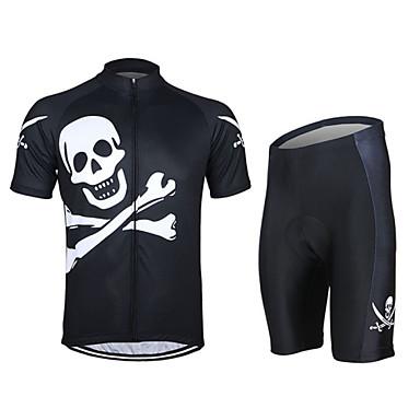 Manga Curta Camisa com Shorts para Ciclismo - Preto Moto Shorts Camisa/Roupas Para Esporte Conjuntos de Roupas, Respirável, Tiras