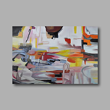 Hand-Painted Abstract Horizontal, Modern Canvas Oil Painting Home Decoration One Panel