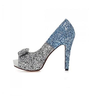 Magassarkú / Elől kivágott Lábujj / Platform - Stiletto - Női cipő - Szandál - Esküvői / Alkalmi / Party és Estélyi - Glitter -Kék /