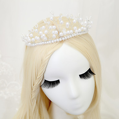 Women's Flower Girl's Crystal Alloy Imitation Pearl Headpiece-Wedding Special Occasion Tiaras 1 Piece