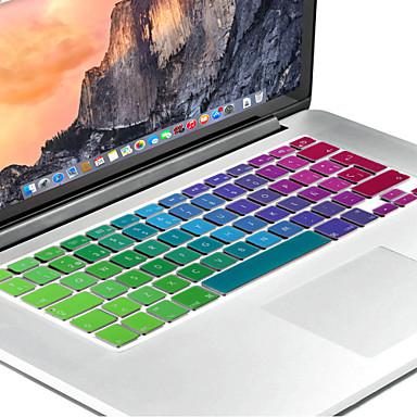 spanyol európai változat fényes szilikon billentyűzet fedél bőr MacBook Air 13,3, MacBook Pro Retina 13 15 17