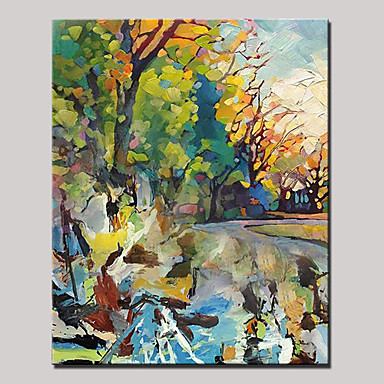 Oil Painting Hand Painted - Landscape Modern Pastoral Canvas
