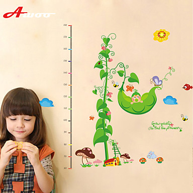 Cartoon Pea Butterfly Height Measurement Wall Sticker Kindergarten Children's Room   Wall Decoration