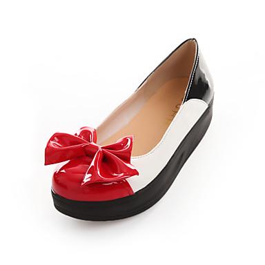 Kényelmes / Kerek orrú - Talp - Női cipő - Mokaszinek - Esküvői / Szabadidős / Ruha / Alkalmi - Bőrutánzat - Fekete / Piros / Fehér