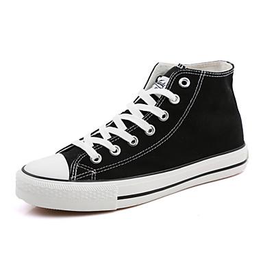 Férfi cipő Vászon Tavasz Nyár Ősz Tél Kényelmes Bokacsizmák Fűző Kompatibilitás Sport Hétköznapi Fehér Fekete Haditengerészet Burgundi