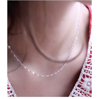 ed3b7d1a80c4 Mujer Collares de cadena Plateado damas Plata Gargantillas Joyas Para Boda  Fiesta Diario Casual