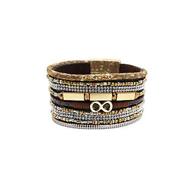 Kadın Vintage Bilezikler Deri Bilezik alaşım Deri Arkilik Yapay Elmas Kumaş imitasyon Pırlanta Eşsiz Tasarım Moda Mücevher Mücevher 1pc