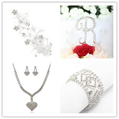 Takı Seti Kadın's Yıldönümü / Düğün / Nişan / Doğumgünü / Hediye / Parti / Özel Anlar Mücevher SetleriKübik Zirconia / İmitasyon İnci /