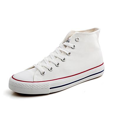 Kadın Ayakkabı Kanvas Bahar Yaz Sonbahar Kış Rahat Düz Taban Bağcıklı Uyumluluk Atletik Günlük Elbise Beyaz Siyah Kırmzı Donanma