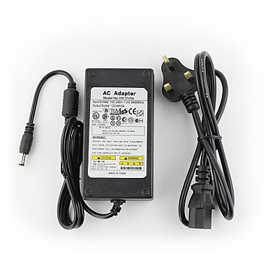 YanSe® 12V5A CCTV System Power Adapter + AC 100~240V 50/60Hz Input to DC 12V 5000mA Output (EU/AU/UK/US Standard) LED