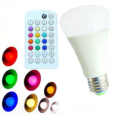 E26/E27 Lâmpada Redonda LED A60(A19) 18 leds SMD 5730 Regulável Controle Remoto Decorativa Branco Quente Branco Frio Branco Natural RGB
