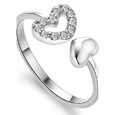 Yüzükler Ayarlanabilir / Doğumtaşları Parti / Günlük Mücevher Som Gümüş Kadın Evlilik Yüzükleri 1set,Ayarlanabilir