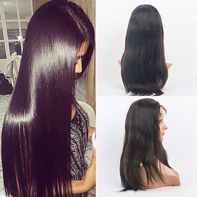 Női Emberi hajból készült parókák Emberi haj Csipke eleje 120% Sűrűség Egyenes Paróka #27 #30 #33 #4/27 #1B/30 Közepes 100% kézi