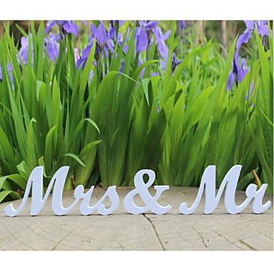 Düğün / Yıldönümü / Nişan / Yeni Yıl Tahta Düğün Süslemeleri Kumsal Teması / Bahçe Teması / Klasik Tema / Peri Masalı Teması Bahar Yaz