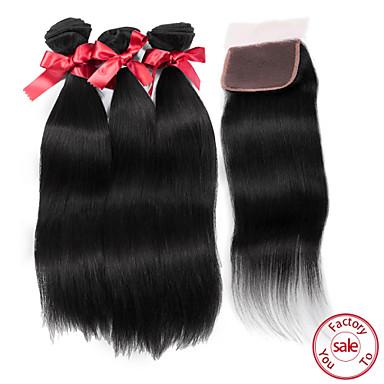 Hair Vetülék, zárral Maláj haj Ravno 12 hónap haj sző