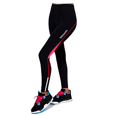 Women's Cycling Tights Bike Bottoms 3D Pad, Breathable, Reflective Strips Red / Green Bike Wear