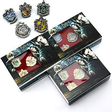 Witch More Accessories Movie Cosplay Silver Gray Golden More Accessories Badge Brooch Halloween New Year Alloy