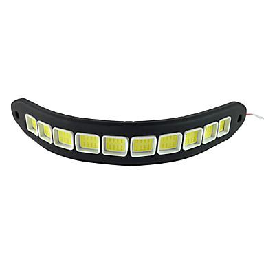 ZDM 2pcs Car Light Bulbs 10W COB 900lm 10LED/pcs LED Daytime Running Light DC12V