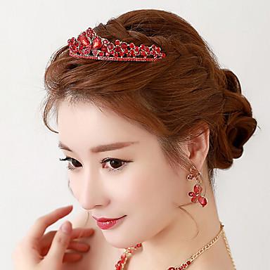 Rhinestone Alloy Tiaras Headpiece Elegant Classical Feminine Style